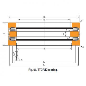 Bearing Thrust race double T730dw