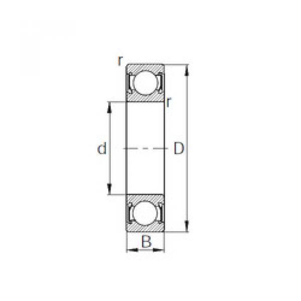 Rodamiento 6010-2RS CYSD #1 image